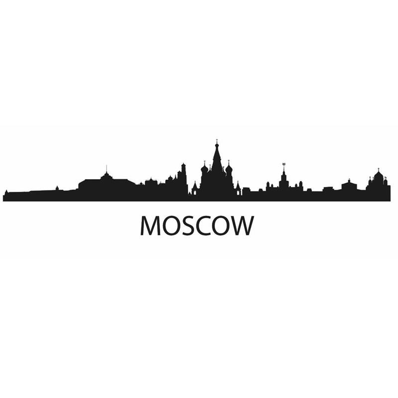DCTAL MOSCOW City Decal Landmark Skyline Wall Stickers