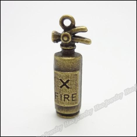 80pcs Vintage Charms Fire extinguisher Pendant Antique bronze Zinc Alloy Fit Bracelet Necklace DIY Metal Jewelry Findings