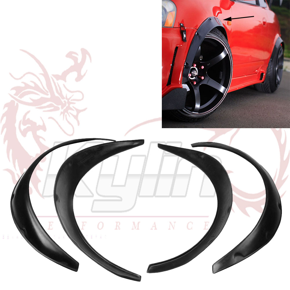 4 pcs car fender flares arch wheel eyebrow protector mudguards sticker universal ot197 china