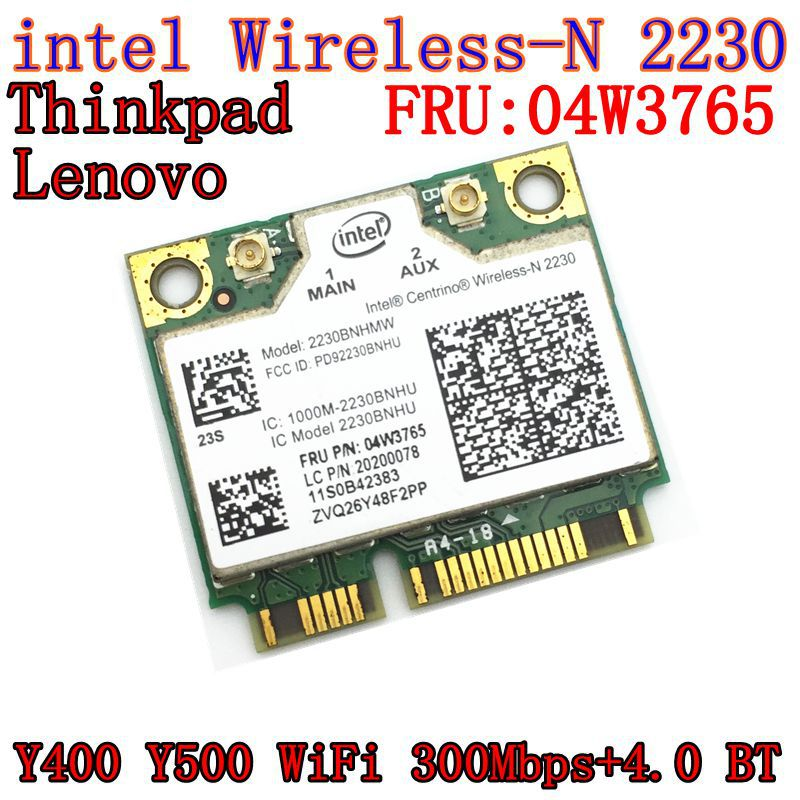 Intel Centrino Wireless-N 2230 wireless Bluetooth 4.0 Wifi N2230 300M mini pcie card 04w3765 for Y400 Y500 intel 2230(China)