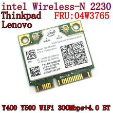Intel Centrino Wireless-N 2230 inalámbrico Bluetooth 4,0 Wifi N2230 300M tarjeta mini pcie 04w3765 para Y400 Y500 intel 2230(China)