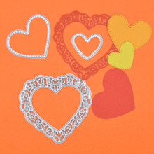 3pcs/set Love Heart Metal Cutting Dies Setfustelle Metalliche Per Scrapbooking Letter