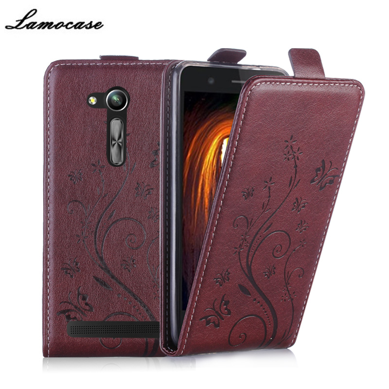 """Luxury Leather Cover For Asus ZB452KG Vertical Magnetic Cover For Asus Zenfone Go ZB452KG 4.5"""" Filp Case Phone Bags & Caes"""