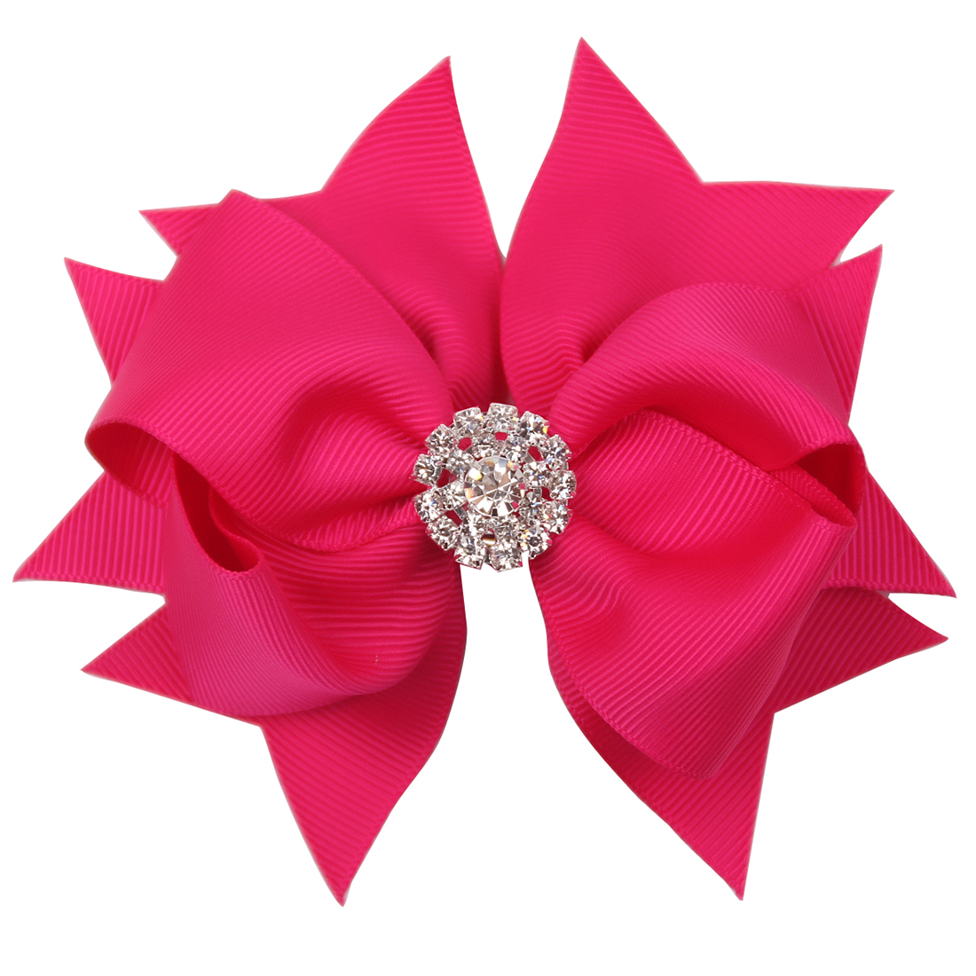 1pc 4inch 25 Colors Boutique Diamond Hair Bows With Clips Swllowtail Grosgrain Ribbon Bow Hairclip For Girls Hair Accessories