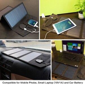 Image 5 - Allpowers 電話充電器 21 ワット 18 v ソーラーバティ充電器携帯電話の usb/dc 充電器スマートフォンラップトップ 12 12v 車のバッテリー