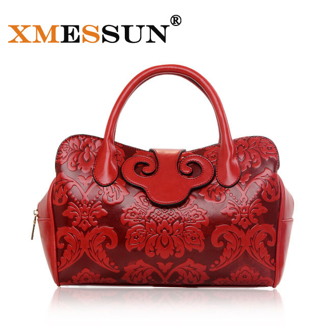 Xmessun Brand Vintage Style Women S Hand Bag Flower Shoulder Las Fashion Leather Designer Luxury Tote Bags B919 In Top Handle From