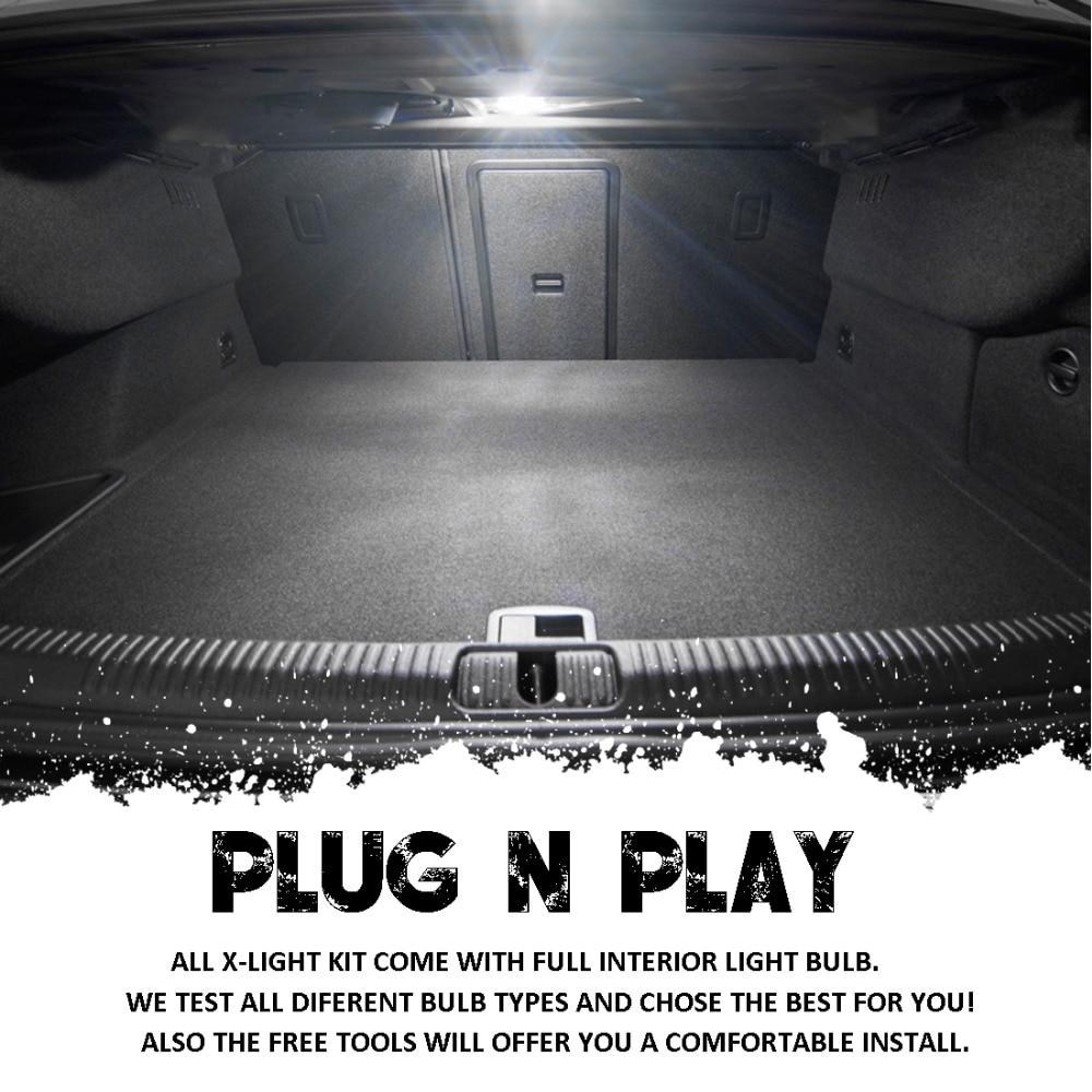 10PCS White Premium LED Interior Dome Light Map Light Kit + License Plate Light for Chevrolet Camaro 1993-2002
