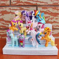 12 pçs/set 5-7 cm lol Bonito Unicórnio cavalo boneca de brinquedo Para Crianças de Aniversário Do Feriado Do Natal Gif mini super asas pet shop