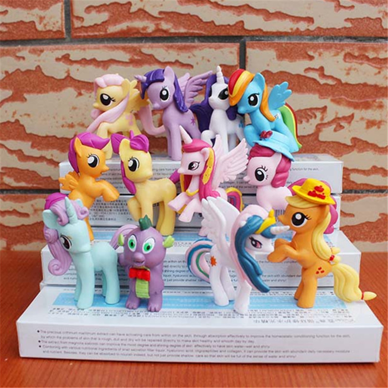 Toys & Hobbies 12pcs/set Cute 5-7cm Lol Unicorn Horse Toy For Children Birthday Holiday Christmas Doll Gif Mini Super Wings Pet Shop