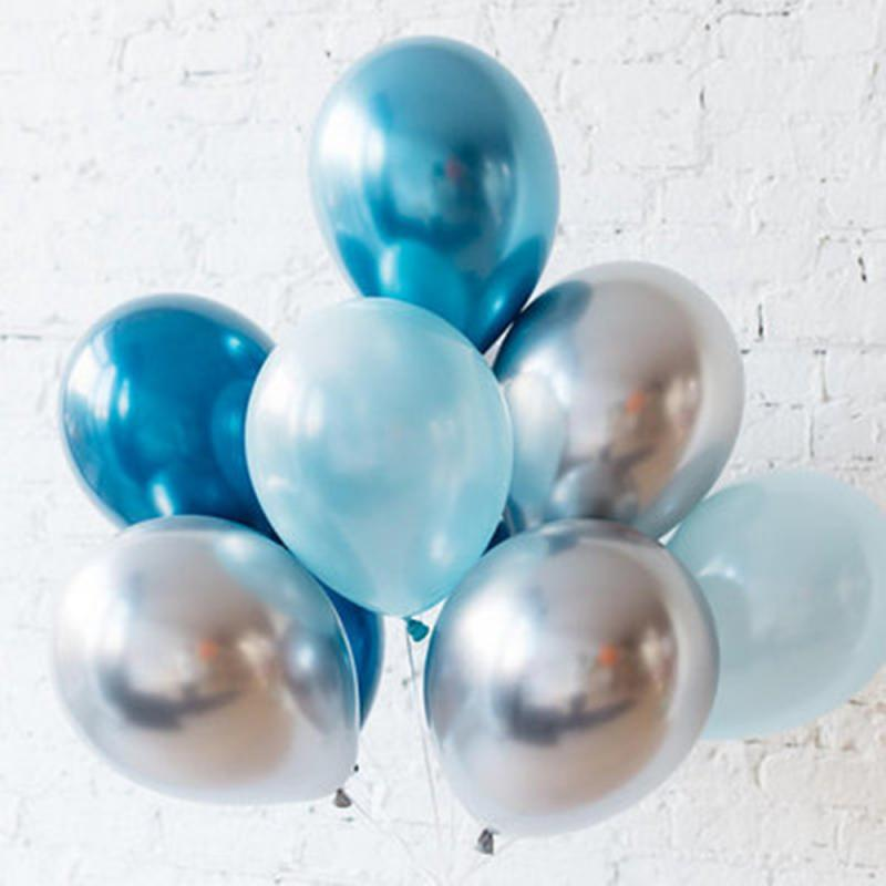 Latex Balloons And Colored Confetti Birthday Party Anniversary Wedding Balloons Baby Shower Inflatable Ball Party Supplies in Ballons Accessories from Home Garden