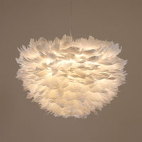 Nordic Lantern Nest Feather Ceiling Chandelier Pendant Lamp DropLight Cafe Store