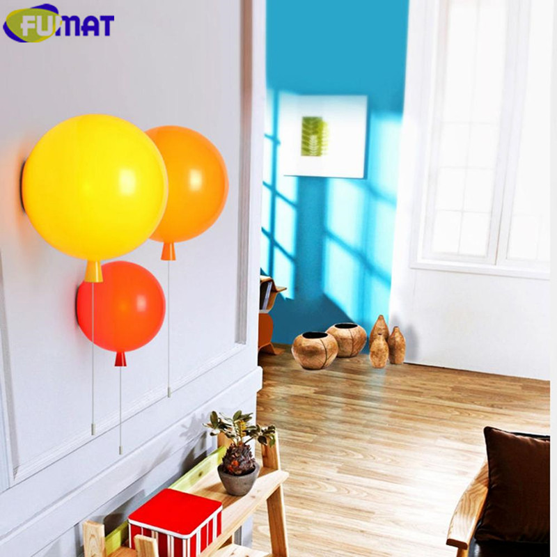 FUMAT Balloon Wall Lamps Modern Acrylic Balloon Wall Sconce Home Art Deco Wall Light Fixture Children Bedroom Bar Lamp Dia30cm deco home вешалка