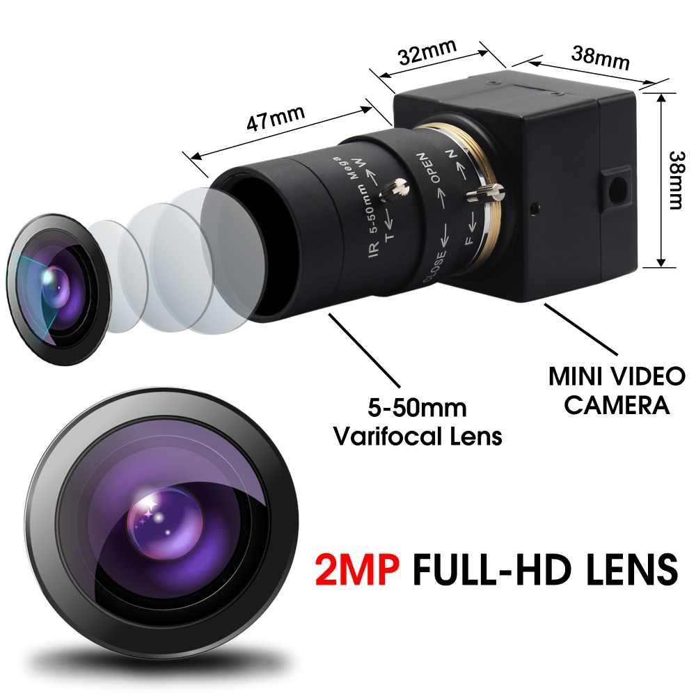2,8-12 мм объектив-видоискатель 2 мегапикселя 1080 P Мини HD USB камера high speed USB 2,0 UVC H.264 камера наблюдения с USB