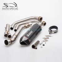 Laser Marking 51mm Universal Motorcycle Akrapovic Pipe Exhaust Muffler Set For MT03 R25 R3 Motorbike Exhaust