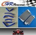 Алюминиевый Радиатор и Синий шланг fit Honda CR250 CR250R CR 250 R 2000 2001 2 инсульта