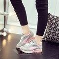 2016 весна и лето корейский стиль мода женщин воздуха обувь для ходьбы высота увеличение дышащий спорт женщин свободного покроя обувь ST782