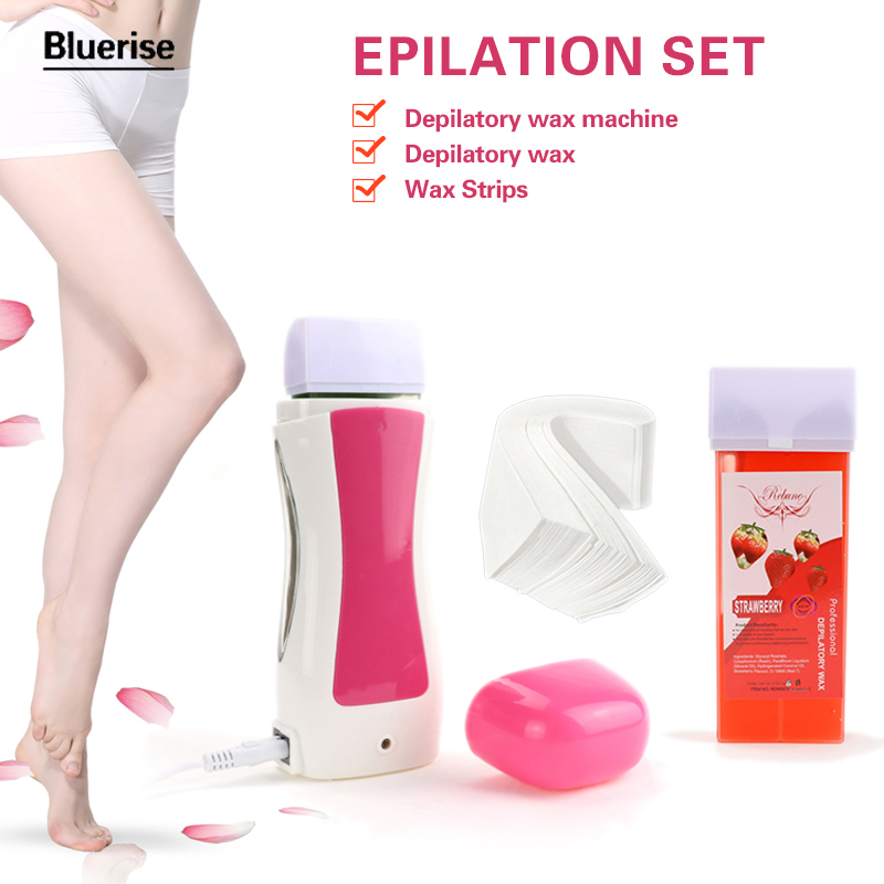 Hair Removal Machine Wax Heater Cartridge Epilator Roll-On Depilatory Heater Waxing Paper Mini Depilatory Wax Epilator Set G001