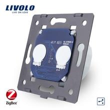 Livolo EU Standard, Basis Von ZigBee Touch Schalter, 2 Gang 2 Weg app Steuerung smart Schalter Ohne Glas Panel, AC 220 ~ 250 V, VL C702SZ
