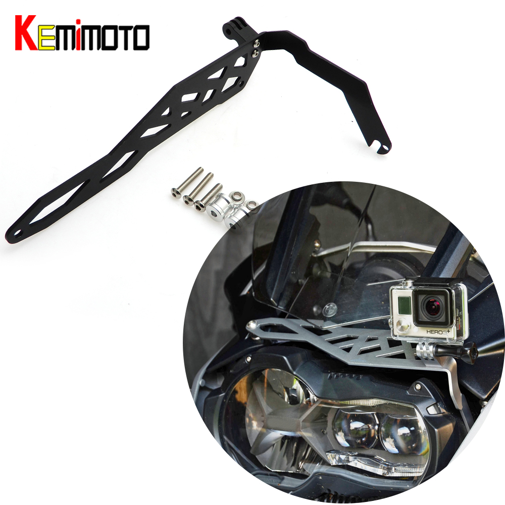 KEMiMOTO for BMW R1200 GS LC Adventure 2013-2016 R 1200 GS Motorcycle Sports Camera VCR Mount Bracket Cam Rack Indicator