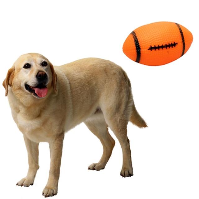 Pet Cani Squeaky Toys Sounding Da Masticare Giocattoli di Calcio di Calcio per I
