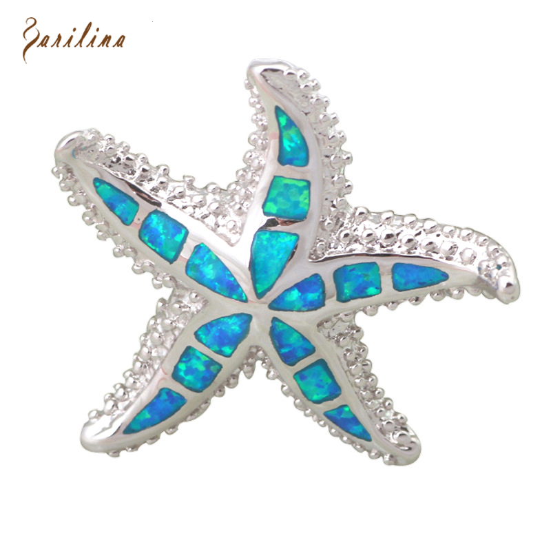 925 Sterling Silver Starfish SeaStar Pendant Necklace