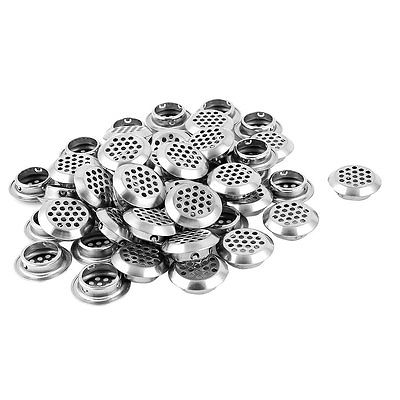 34mm Diameter Stainless Steel Perforated Round Air Vent Louver 50pcs LXM
