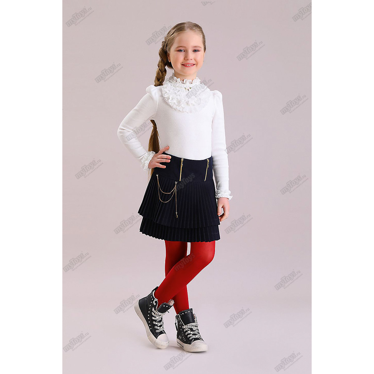 Malenkaya Lady Blouses & Shirts 11686207 blouse for girl school  clothes jacket wardrobe childrens shirt White Blue Girls O-Neck plus size leaf sheer v neck blouse