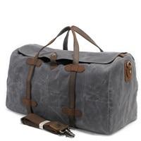 Luxury Canvas Suitcases and Travel Bag Men Vintage Duffel Bags Big Carry on Luggage Weekend Large Waterproof Shoulder Totes