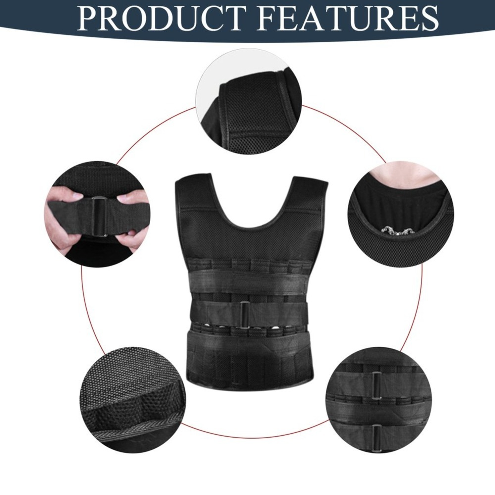 Ultra Thin Adjustable Weighted Vest Breathable Workout Exercise Carrier Vest For Training Fitness Weight-bearing Equipment
