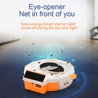 Solar Powered Electric Fly Trap with Trapping Food USB Charging Flycatcher Artifact Catcher J2Y