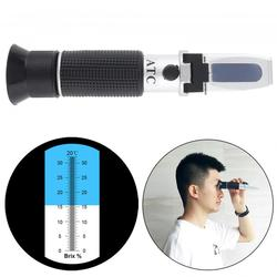 Hand Held 2 In1 Brix Adjustable Fruit Juice Wine Refractometer with Pipet and Mini Screw Driver Support Manual Focusing