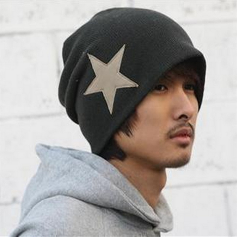 winter hat Pentacle Star Warm Beanie Hip Hop Knit Cap Crochet Cuff Winter Hat For Women Men Star Beanie Hat pentacle star warm skull beanie hip hop knit cap crochet cuff winter hat for women men hot sale