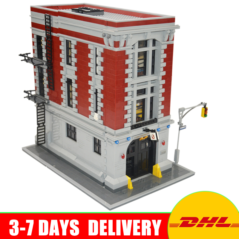LEPIN 16001 4695Pcs Ghostbusters Firehouse Headquarters Model Building Kits Model set Compatible With 75827 lepin 16001 4705pcs city street series ghostbusters firehouse headquarters building block bricks kids toys for gift 75827