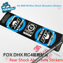 Bicycle Accessories Rear Shock Sticker fox DHX R4 Mountain Bicycle Rear Shock Absorbers Stickers MTB Bike Shock Absorber Decals