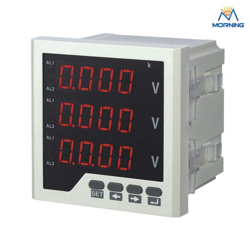 3AV23  120*120mm  panel voltmeter  three phase LED  digital only panels  voltage meter three phase combination meter voltmeter amperemeter