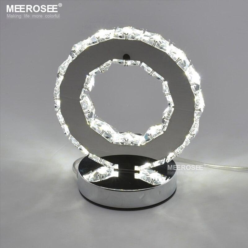 LED Crystal Ring Table Light LED Desk Lamp Reading Light Bedside Table Light Desk Lamp for bedroom