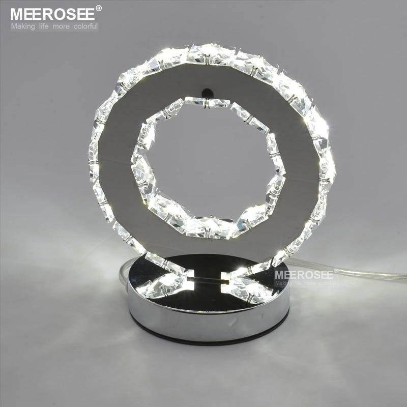 LED Crystal Ring Table Light LED Desk Lamp Reading Light Bedside Table Light Desk Lamp for bedroom led reading desk lamp bedside bedroom table light rechargeable non polar dimmable desklight
