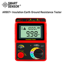 лучшая цена Smart Sensor AR907+ 50V-1000V Megger Insulation Earth Ground Resistance Tester Megohmmeter AC / DC Voltmeter Tester