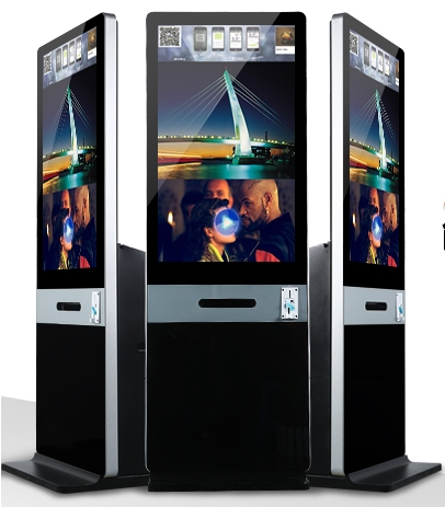 42 Inch Instant Photo Kiosk Photo Taken Booth Kiosk  With DNP DX RX1 Thermal Printer