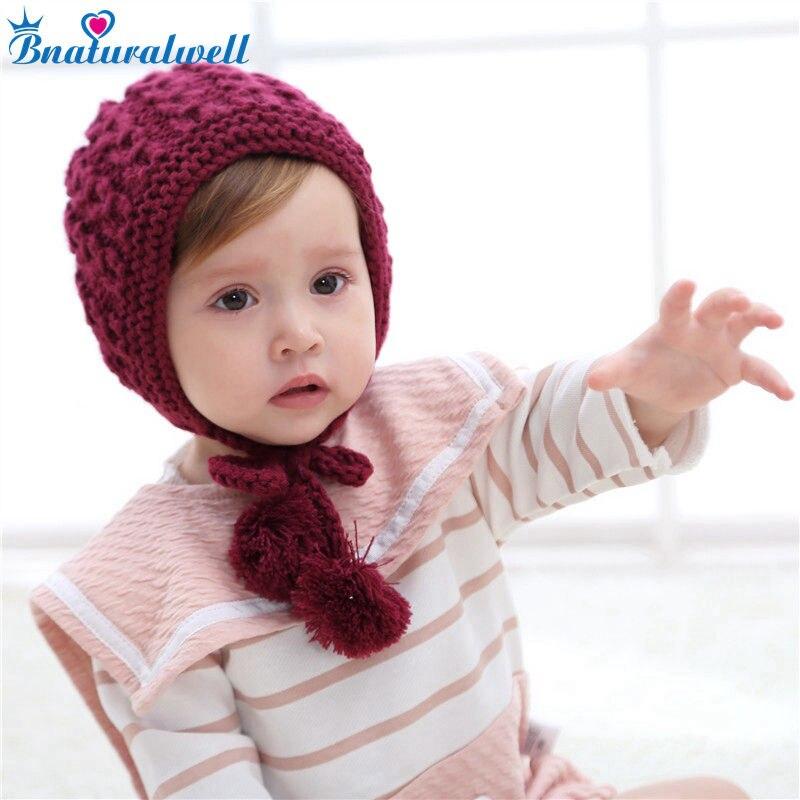 Bnaturalwell Baby Häkeln Hut Muster Kleinkind mädchen winter hut mit ...