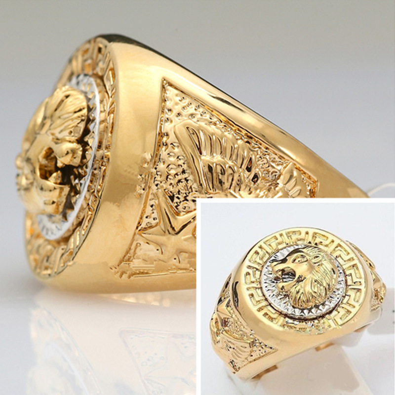 2017 Top Selling Fashion Men\'s 19mm Band Ring Cool Lion Eagle Star ...