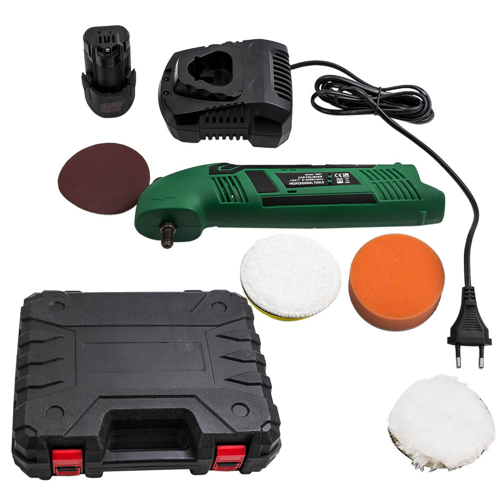 12V Lithium Battery charging polishing machine Car Polisher Cleaner Wireless Portable Adjustable speed Waxing Machine 12v rechargeable lithium electric polishing machine household adjustable speed car furniture polishing and polishing machine 1pc