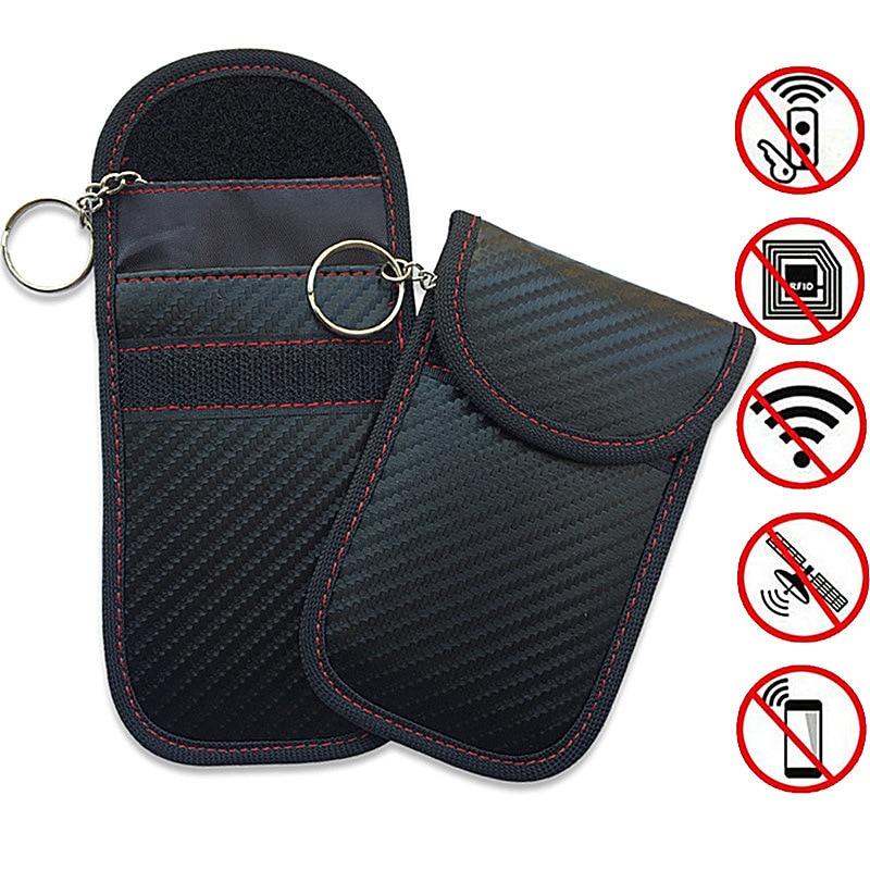 Key Wallets Key-Case Electromagnetic Remote-Control-Key-Cover Carbon-Fiber Anti-Theft