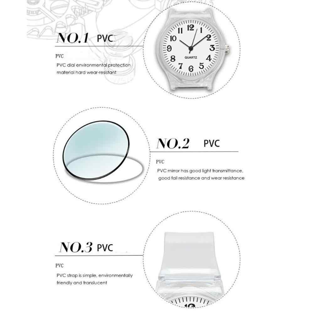 2019 nouveaux amoureux hommes femmes montres mode Transparent couleur bonbon en plastique bande décontracté Quartz montres femme mâle montres