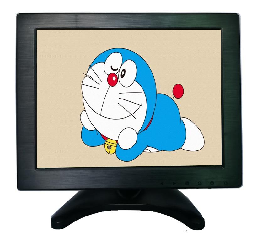 10.4 inch LCD monitor display HD multifunctional monitor with VGA/HDMI/AV/BNC