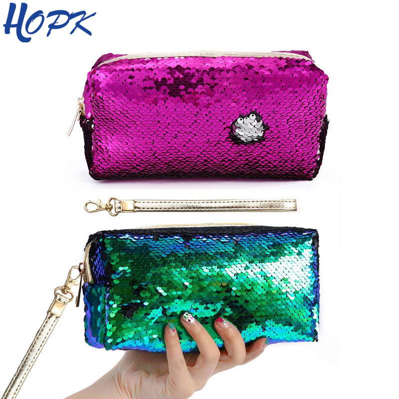 Reversible Glitter Sequins Pencil Cases for Girls School Pencil Bag Pencil Box Pencilcase School Stationery Supplies pencil bags pencil cases pencil box rose red