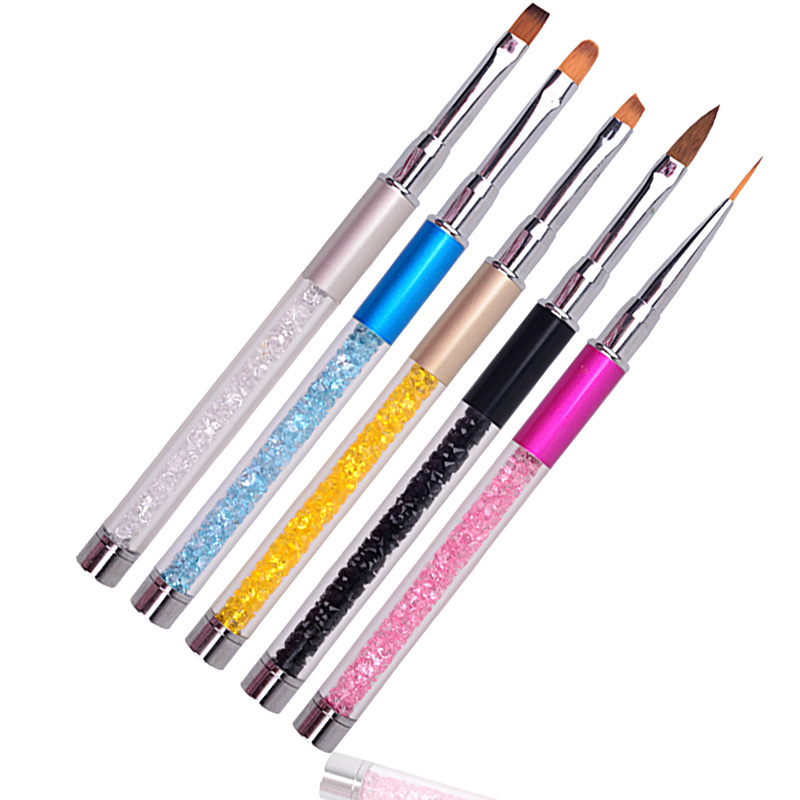 Nail Art Nail Brush Gel Varnish Drawing Lines Pen Design Nail Brushes Untuk Kuku Manik Tips Aksesori Akrilik Baru