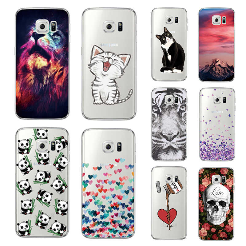 Animal Cases Voor Samsung Galaxy A3 A5 J5 2015 2016 2017 S9 S8 S7 S6 Rand J2 J5 Prime Clear silicone Soft TPU Terug Coque Cover