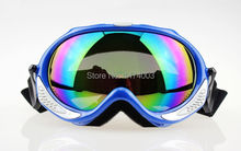 Free shipping professional MOTOCROSS Motorcycle Motocross ATV Ski Snowboard Adult Goggles Colored Lens Bule Frame 01