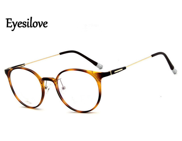 Eyesilove fashion TR90 women myopia glasses Nearsighted Glasses round lens frame prescription glasses lens degree  1.00 to  6.00